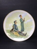 Limited Edition Norman Rockwell Collector Plate. 1976 Spring-'Soaring Spirits'.