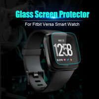 2-Pack Tempered Glass Screen Protector Film Guard For Fitbit Versa Watch