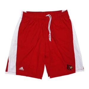 Louisville Cardinals NCAA Adidas Mens Football Sideline Red Shorts