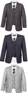 SUIT LAB - Boys Formal Light Dark Grey Suit | 3 Piece | Christening Wedding