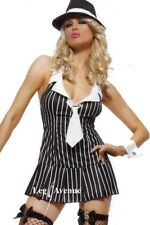 Leg Avenue 2 PC Miss Mafia Costume, BW Dress & Cuffs. Size XL / UK 14-16. NEW.