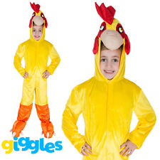 Girls & Boys Chicken Costume World Book Day Week Fancy Dress Outfit Jumpsuit