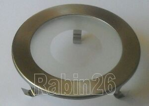 """4"""" SILVER SATIN NICKEL RECESSED LIGHT 120V A19 / 12V MR16 SHOWER TRIM CLEAR LENS"""
