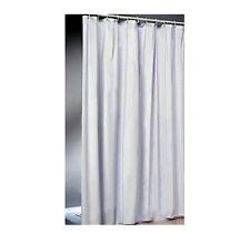 Cortina de ducha blanco blanco 120 cm Tela Textil con Cinta lastre y Lucha Mala