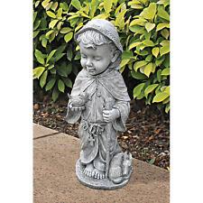 "Young Saint Francis Italian Patron of Nature Beloved Garden Sculpture- Large 24"""