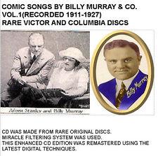 BILLY MURRAY Comic Songs Ragtime 1920s Jazz Vol. 1 - New CD