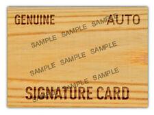 The Autograph Card Blank Signature cards 25 BAT BARREL