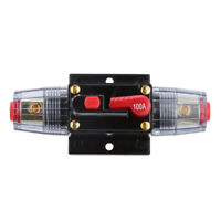 Premium 12V-24V 100A Manual Reset Switch Car Fuse Auto Circuit Breaker