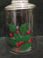 Corelle Christmas Winter Holly Days Cookie Jar