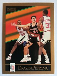 1990-91 Skybox Drazen Petrovic #237 - Autographed Basketball Card