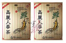 2 x Kun Yang KOREAN GINSENG TEA 3g x 100 tea bags - made from Ginseng Extract