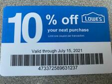 10 Home Depot 10% off Coupons - Not valid at Lowes -Home Depot accepts