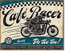 """CAFE Racer Parts & Service """"fare il TON!"""" METAL SIGN 400mm x 320 mm (DE)"""