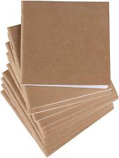 48-Pack Kraft Mini Notebooks Bulk, Unlined Blank Travel Journals Small, for Stud