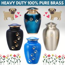 "Small Pet Keepsake Cremation Urn For Ashes Dog Funeral 6"" Memorial Brass Urn UK"