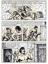 TAROU CONTRE LES SOLDATS JAPONAIS (BOB DAN) PLANCHE ORIGINALE  PAGE 34 SIGNEE