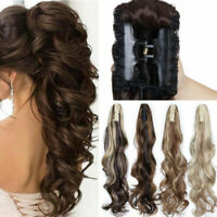 Tool Hair Extensions Long Curly Wavy Jaw Horse Tail Hairpiece Clip On Ponytail