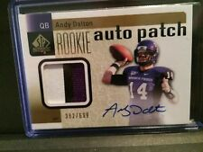 Andy Dalton 2011 SP Authentic Rookie Auto Patch 382/699 Bengals QB 3 Color Patch