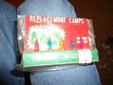 Vintage Gleam Lites Christmas Lights Bulbs Pepper Set Replacement Lamps in Box