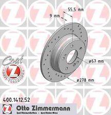 Disque de frein arriere ZIMMERMANN PERCE 400.1412.52 MERCEDES-BENZ CLASSE C W203