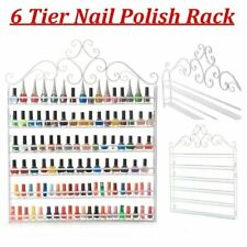 6 TIER Nail Polish Display Wall Rack Metal Organizer Holder Valentines Best Gift
