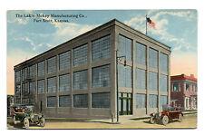 Fort Scott KS Lakin-McKey Manufacturing Co. & Two Cars Postcard 1914