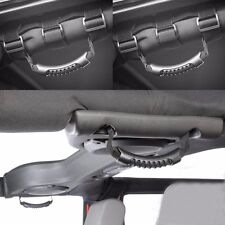 4pcs Front + Rear Black Roll Grab Handles For Jeep Wrangler JK Unlimited Rubicon