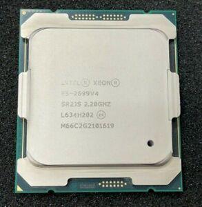 Intel E5-2699V4 SR2JS 22-Core 2.2GHz 55MB 9.6GT/s 145W LGA2011 CPU Processor