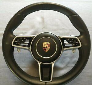Porsche steering wheel  Macan Cayman 911 Cayenne Panamera Black Heading 2016