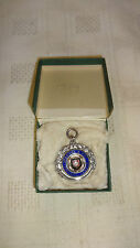 In scatola Sterling Silver/Smalto/Oro FOOTBALL LEAGUE Orologio Fob/MEDAGLIA - 1927