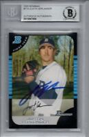 Justin Verlander Detroit Tigers 2005 Bowman Rookie Signed Card Beckett BAS