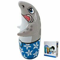 3D Bop Bag SHARK - Inflatable Blow Up Punching Bag Toy Gift Kids Fun