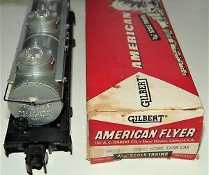 POSTWAR AMERICAN FLYER S SCALE 926 TANK CAR IN RARE BX #24312 1957 ~ NICE ORIG