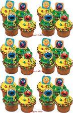Sesame Street 24 Cupcake Rings Elmo Big Bird Birthday Bag Fillers Favors Prizes