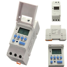 UK Weekly DIN Rail Mounting Digital Programmable Timer THC15A DC 12V Time Switch