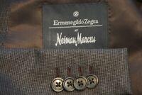 Ermenegildo Zegna Brown 100% Wool Sport Coat Jacket Sz 46R Made Italy