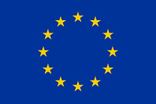 BANDIERA BANDIERONE CEE EUROPA cm. 140 X 200 grande COMUNITA EUROPEA FLAG