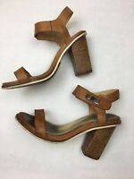 Rag & Bone Light Brown Leather High Heel Sandals Ankle Straps US 6.5 EU 36.5