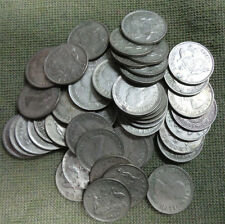 #C29. FIFTY(50)   1958  AUSTRALIAN  SILVER  SIXPENCE COINS