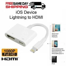 Lightning To HDMI 1080P Digital AV TV Cable Adapter For iPad iPhone Xs MAX XR X