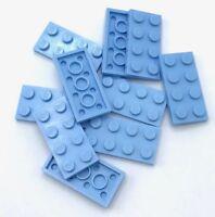 Lego Bright Light Blue Plate Round 1x1 avec Fleur Bord 24866 100 pièces