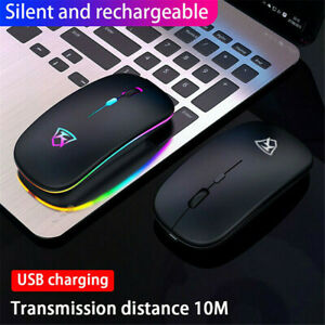 2.4GHz Wireless Slim Rechargeable Mouse Mice Optical Scroll Ultra For PC Laptop