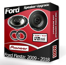 Ford Fiesta Porte avant Haut-Parleurs Pioneer Voiture + Adaptateur Anneaux Pieds