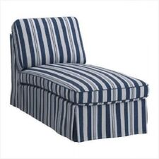 IKEA Ektorp Chaise Cover ABYN BLUE Longue Stripes Slipcover 201.930.45 NEW