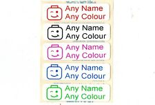 50 Printed Lego Head iron on Name Tags tapes Labels School clothes personalised