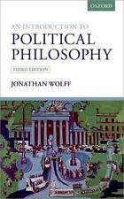 An Introduction to Political Philosophy by Jonathan Wolff (2016, Paperback)