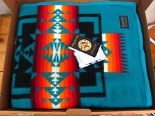 Pendleton Chief Joseph Jacquard Robe Turquoise 64x80 Made in USA!!