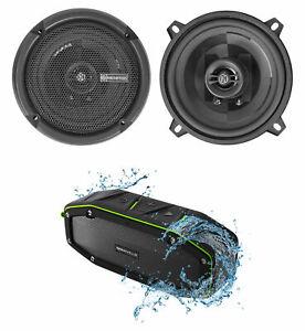 "Pair Memphis Audio PRX5 5.25"" 60 Watt 2-Way Car Speakers + Bluetooth Speaker"