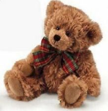 """Russ Berrie Extra Soft Teddy Bear with Plaid Bow 8"""" (Light Brown)"""