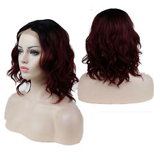 New Synthetic Hair Wigs Lace Front Natural Long Daily Party Full Wig Wavy BoB XM